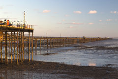 Southend Pier at Sunset, Essex, England Royalty Free Stock Images