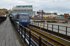 Southend pleasure pier. Royalty Free Stock Images