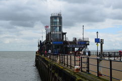 Southend pleasure pier. Royalty Free Stock Image