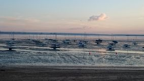 Southend-On-Sea Boat Graveyard. Low Tide Free standing Boats Royalty Free Stock Images