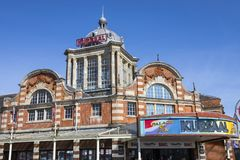 The Kursaal in Southend-on-Sea. SOUTHEND-ON-SEA, ESSEX - APRIL 5TH 2018: A view of the historic Kursaal located in Southend-on-Sea in Essex, UK, on 5th April Stock Photography