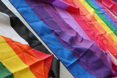 Southend on Sea, Essex, UK, 14 July 2018 Gay Pride Transpire Event, Pride Flags stock photo
