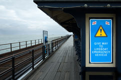 Southend on Sea pleasure pier, the longest in theworld. Royalty Free Stock Image