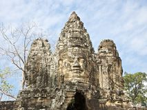 Souther gate of Angkor Thom - Cambodia Royalty Free Stock Images