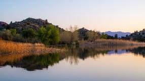 Souther Utah pustyni jeziora odbicia Zdjęcia Stock