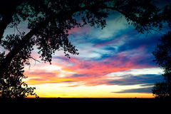 Southern Alberta Prairie Sunset Royalty Free Stock Images