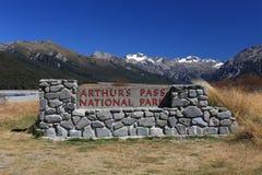 Southern alpine alps mountain at Arthur's Pass National Park New Stock Photos