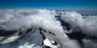 Southern Alps and Cloudscape - New Zealand Royalty Free Stock Photo