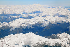 Southern alps with Mount cook Royalty Free Stock Photography