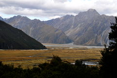 Southern Alps, New Zealand Royalty Free Stock Photo