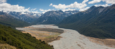 Southern Alps panorama, New Zealand Stock Image
