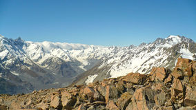 Southern Alps Panoramic. The Southern Alps in New Zealand Royalty Free Stock Image