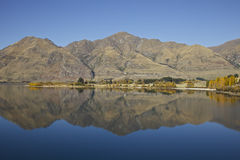 Southern Alps Reflection. Mountain reflection of the southern alps in New Zealand Royalty Free Stock Photo