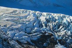 Southern Andes glacier in Chile. Southern Andes range glacier ice cracks in Chile. Trekking in Cerro Castillo snow capped peaks stock photography