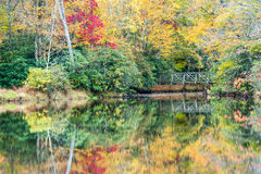 Southern Appalachian Autumn Colors Reflected Royalty Free Stock Images