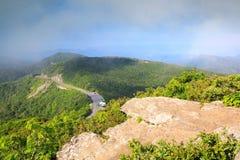 NC Southern Appalachian Mountain Vista royalty free stock images