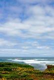 Southern Australian coastline. Under cloudy blue sky Royalty Free Stock Photos