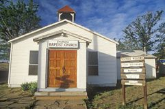 A Southern Baptist Church in New Mexico Stock Photo