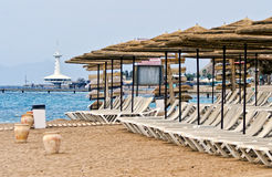 Southern beach of Eilat, Israel Stock Photos