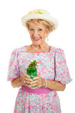 Southern Belle with Mint Julep Royalty Free Stock Images
