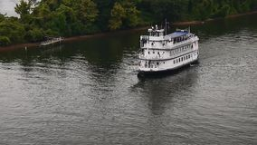 Southern belle riverboat stock video