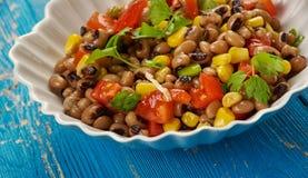 Southern Black-eyed Pea Salad. Or Salsa Stock Photo
