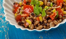Southern Black-eyed Pea Salad. Or Salsa Royalty Free Stock Photography