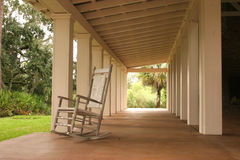 Southern boathouse. Interior of the porch of a southern boathouse stock photography