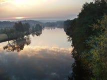 Southern Boug River. Sunrise on Southern Boug River Stock Photo