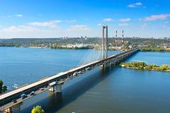Southern Bridge in Kiev Stock Photography