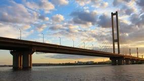 Southern Bridge in Kiev, Ukraine stock video