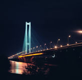 Southern bridge at night. Kyiv, Ukraine. Stock Images