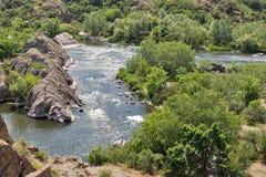 Southern Bug river landscape in Migeya, Ukraine. Stock Photo
