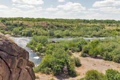 Southern Bug river landscape in Migeya, Ukraine. Stock Photos