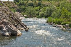 Southern Bug river landscape in Migeya, Ukraine. Royalty Free Stock Images