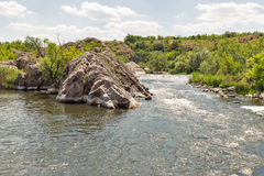 Southern Bug river landscape in Migeya, Ukraine. Stock Image