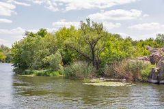 Southern Bug river landscape in Migeya, Ukraine. Royalty Free Stock Photos