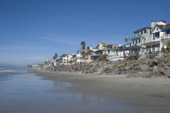 A southern California beach. The homes along the beaches of southern California Stock Photos