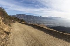 Southern California Fire Mountain Road Royalty Free Stock Image