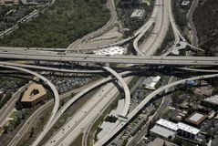 Southern California Freeway Interchange Stock Photo