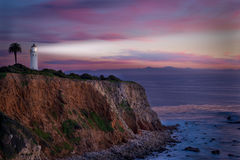 Southern California Lighthouse at sunset. Stock Photography