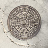 Southern California Manhole Cover Royalty Free Stock Image