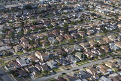 Southern California Middle Class Housing Aerial Royalty Free Stock Image