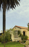 Southern California Ocean Beach House stock photo