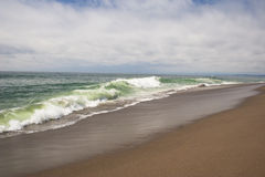Southern California remote sandy ocean beach Royalty Free Stock Image