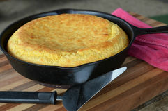 Free Southern Cast Iron Skillet Corn Bread Royalty Free Stock Images - 49468969