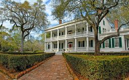 Southern Mansion with brick walkway royalty free stock photography