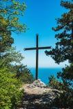 Southern coast of Crimea- extreme hiking Royalty Free Stock Photos