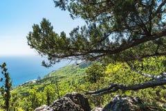 Southern coast of Crimea- extreme hiking Royalty Free Stock Photography