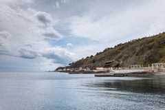 Southern Coast of Crimea. Viiew of Yalta city. Royalty Free Stock Images
